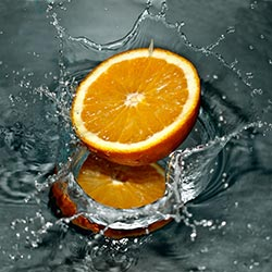 image of orange splash